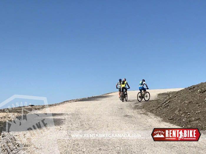 Sierra Nevada Posiciones del Veleta - bicicleta de alquiler rent a bike granada