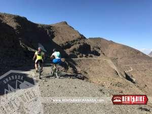Paso de la Carihuela Sierra Nevada - bicicleta de alquiler rent a bike granada