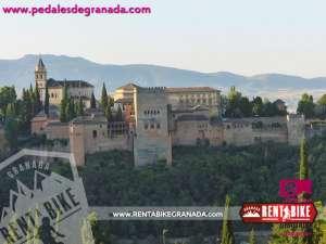 Alhambra - bicicleta de alquiler rent a bike granada