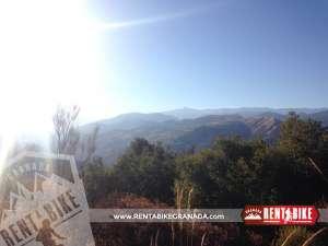 Cerro del Sol y Sierra - bicicleta de alquiler rent a bike granada
