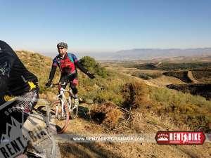 Vereda de los Pinos - bicicleta de alquiler rent a bike granada