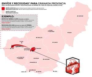 Mapa RentaBike Granada Precios